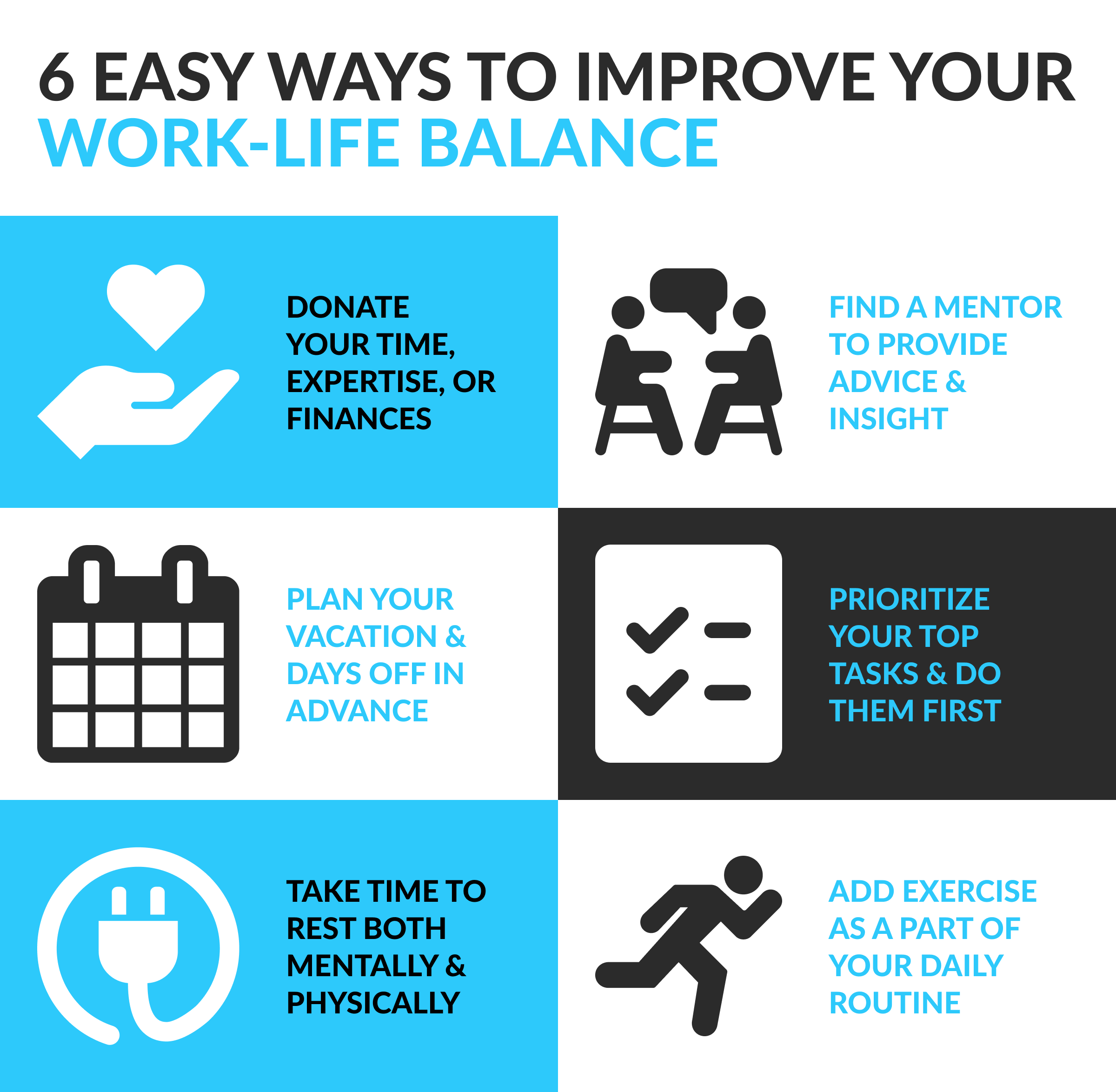 6 Easy Ways To Improve Your Work Life Balance Palmer Group Central Eastern Iowa Jobs