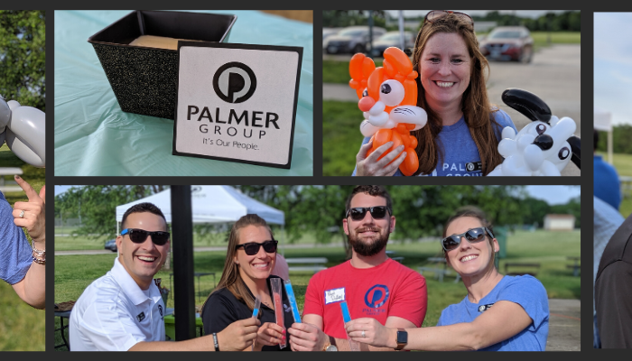 Picture college of Palmer Group employees showcasing the principle of fun